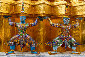 Sculptures of Rakshasa in Thailand
