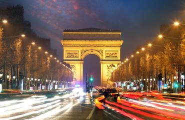 Champs elysees and Arc de Triumph, Paris