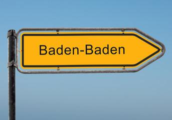 Strassenschild 35 - Baden-Baden