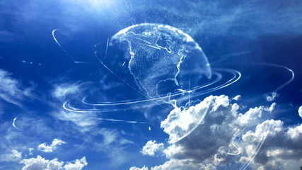 Beautiful blue sky globe 1