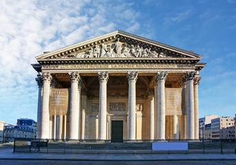 Pantheon in paris with blue sky