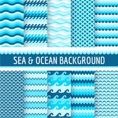 10 Seamless Patterns - Nautical Sea Theme