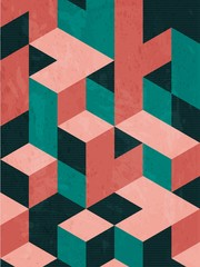 Abstract isometric shape background