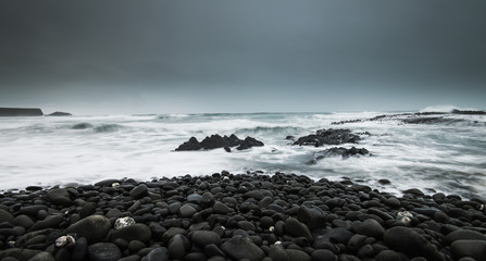 Stormy ocean coast