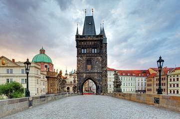 Charles bridge with tower, Prague