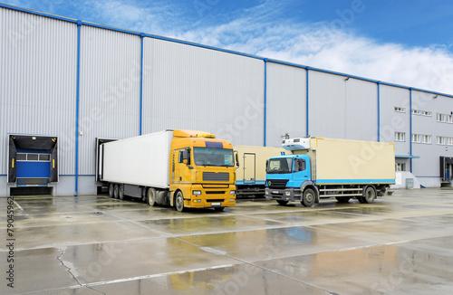 Truck in warehouse - Cargo Transport - 79045962