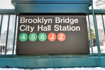 Brooklyn Bridge, City Hall Station - New York Subway