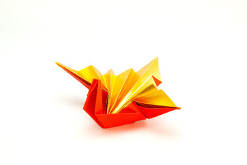 Celebration crane ( A traditional japanese paper craft)