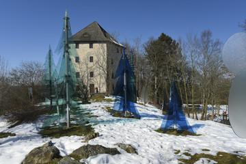 Burgruine Weißenstein - Gläserner Wald und Dichterturm