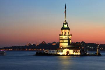 The Maiden's Tower (Kiz Kulesi) in Istanbul, Turkey