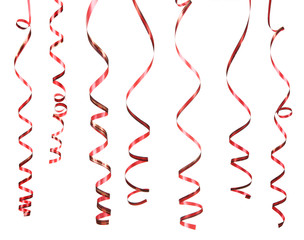 Red serpentine isolated on white background
