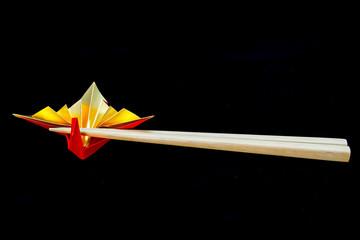 Celebration crane ( A traditional japanese paper craft)