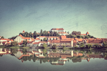 Ptuj, Slovenia. Vintage style photo