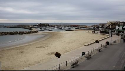 Lyme Regis Dorset England UK beach and harbour