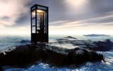 Fototapety icebergs et cabine téléphonique