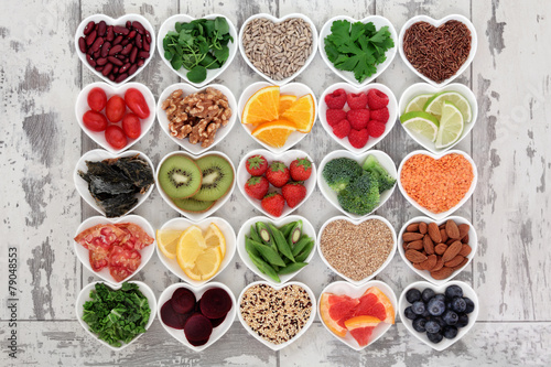 Staande foto Assortiment Detox Diet Food