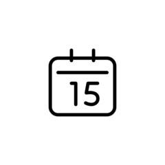 Calendar Trendy Thin Line Icon