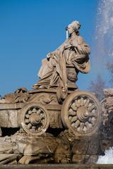 Famous monument of Fuente de Cibeles in Madrid