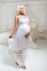 delicate pregnant woman