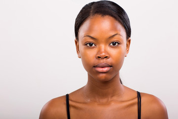 african girl without makeup