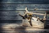 Vintage carpenters tool box - 79051352