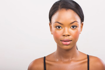 african girl with natural makeup