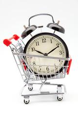 carro de compra y despertador