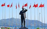 Monument to the first president of Turkey Mustafa Kemal Ataturk