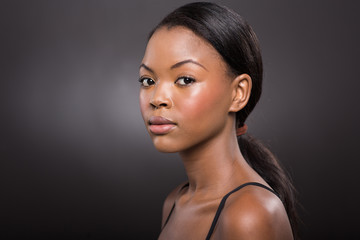 young african american woman with natural makeup