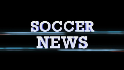 SOCCER NEWS Text Transition, with Alpha Channel, Loop