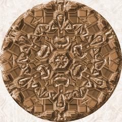Bronze (brown) jewelled (diamond) circle