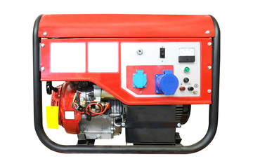 Portable gasoline generator isolated