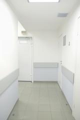 Medical center corridor interior