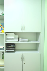 White cupboard of a medical center