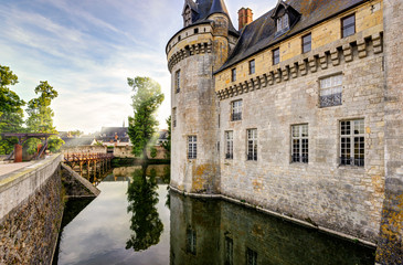 The chateau of Sully-sur-Loire, France