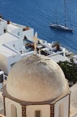 Urban scenic of Santorini Island in Greece