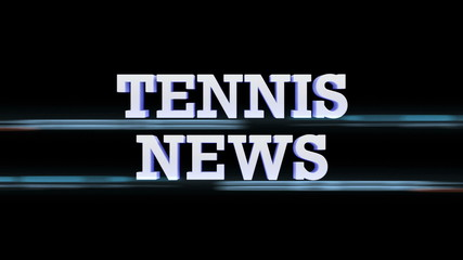 TENNIS NEWS Text Transition, with Alpha Channel, Loop