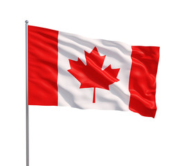 waving flags of canada