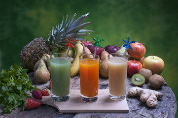 freshly squeezed fruit juices