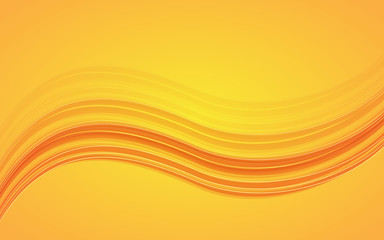 Abstract orange waves - data stream concept. Vector Illustration