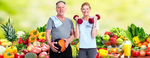 Healthy senior couple.