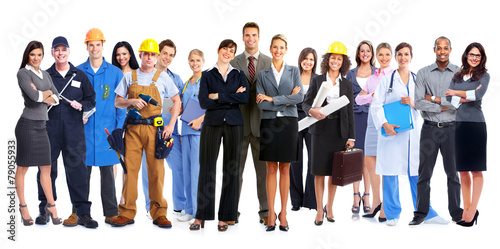Group of workers people. - 79055933