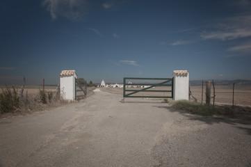 View of a farm gate