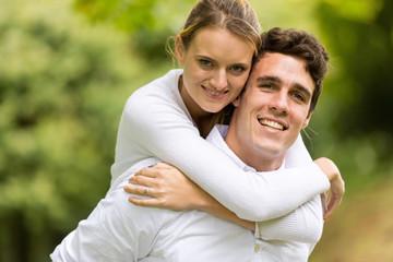 young couple enjoying beautiful day