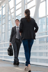 Business people in urban environment