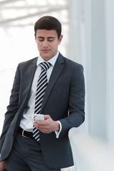 Businessman mobile phone