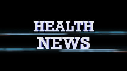 HEALTH NEWS Text Transition, with Alpha Channel, Loop