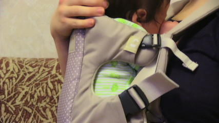 Baby In His Carrier