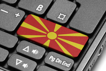 Go to Macedonia! Computer keyboard with flag key.