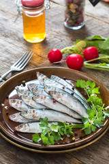 Small smelts fish